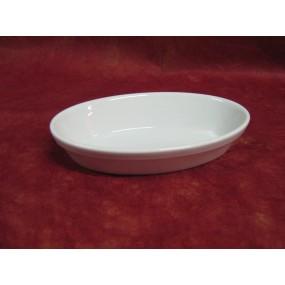 PLAT A FOUR OVALE individuel 32cl en porcelaine blanche