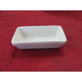 PLAT A FOUR individuel / RAVIER 21cl en porcelaine blanche