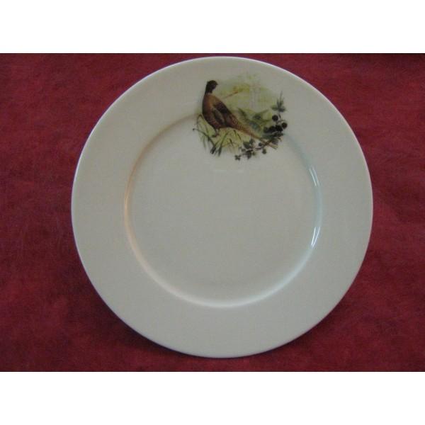 Assiette dessert decor chasse faisan en porcelaine - Decoration assiette dessert ...
