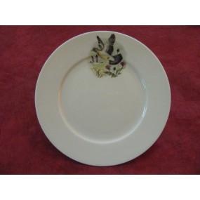 Assiette dessert decor chasse pigeon en porcelaine - Decoration assiette dessert ...