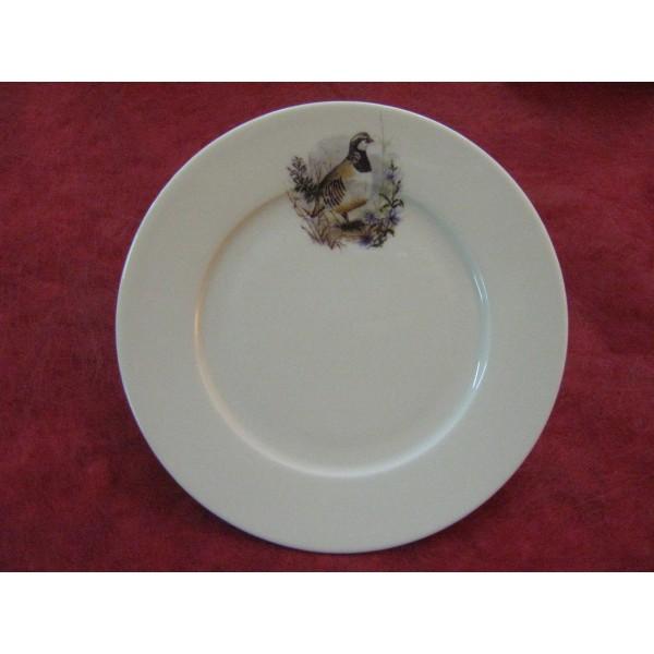 Assiette dessert decor chasse perdrix en porcelaine - Decoration assiette dessert ...