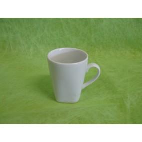 TASSE A CAFE CARRE 10cl en porcelaine blanche