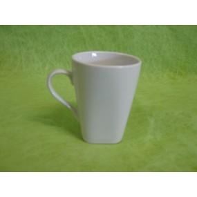 TASSE A CAFE CAPUCCINO carrée 15cl en porcelaine blanche