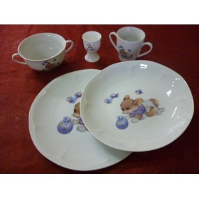 centre vaisselle porcelaine decoree pour enfant personnaliser votre cadeau avec le pr nom. Black Bedroom Furniture Sets. Home Design Ideas